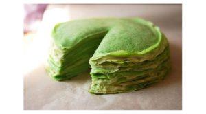 блинчики с японским зеленым чаем матча